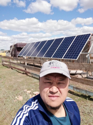 Off grid solar system in Kazak...