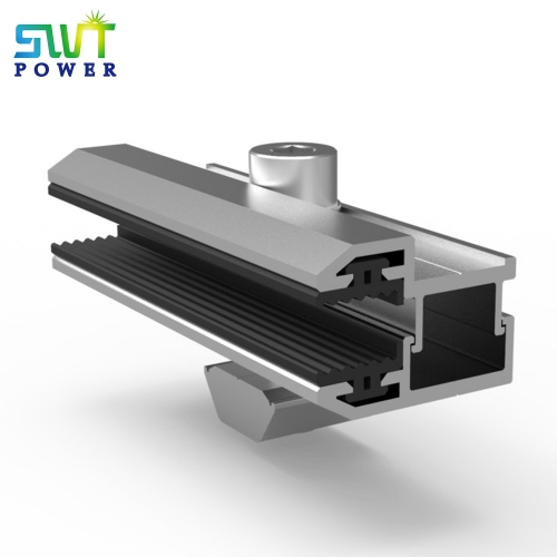 Thin film panel end clamp