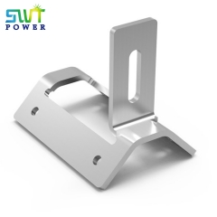 Trapezoidal metal roof sheet clamp